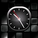 Silver Bold Analog Clock icon