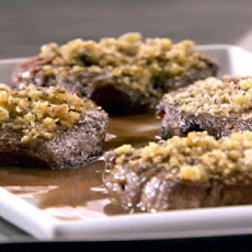 Blue-Cheese-Crusted Steaks with Red Wine Sauce