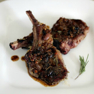 Garlic and Rosemary Lamb Chops with Honey Cider Glaze