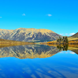 Lake Pearson-South Island,NZ by Turner Lilly - Landscapes Waterscapes ( hills, mountains, lakes, travel, landscapes )