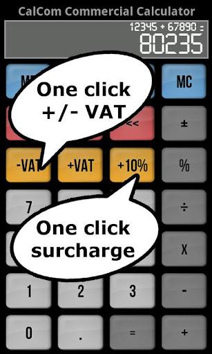 calCom - Commercial Calculator