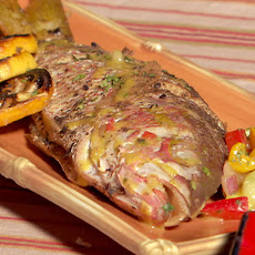 Grilled Whole Fish with Four Pepper-Ginger Sauce