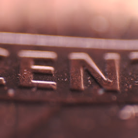 One Cent by Jon Cody - Abstract Macro ( cent, macro, coin, penny, close up )