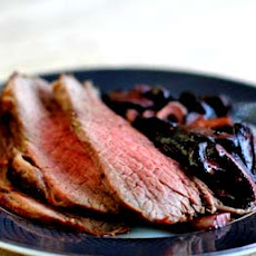 Marinated Tri-Tip Roast with Mushrooms and Garlic
