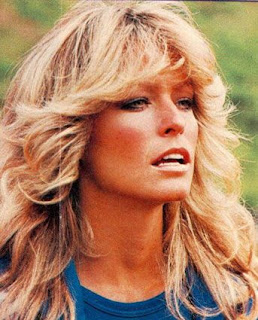 Here are the famous Farah Fawcett hairstyles. Those wings!