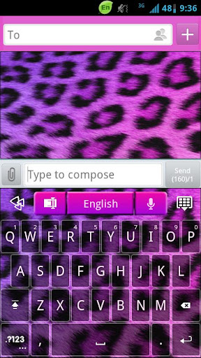 GO Keyboard Girly Cheetah