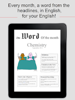Screenshot of The Word of The Month