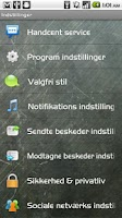 Screenshot of Handcent SMS Danish Language P