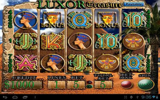 LUXOR Treasure Slot Machine