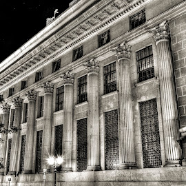 Historic building (1930's) of National Bank of Greece by Sergios Georgakopoulos - Buildings & Architecture Public & Historical ( b&w, hdr, thessaloniki, greece )