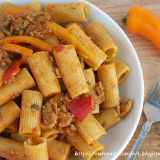 Sausage, Pepper and Onion Pasta