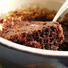 5-Minute Wacky Vegan Microwave Chocolate Cake for One