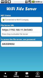 WiFi File Server Pro Screenshot