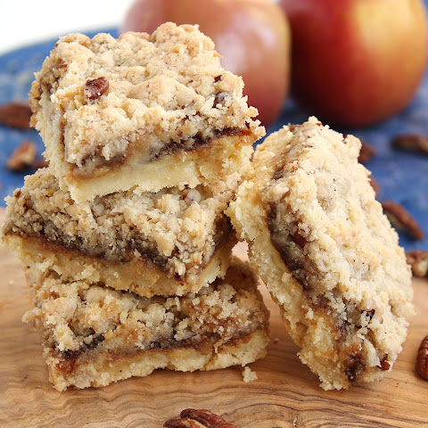 Apple Butter Cheesecake Streusel Bars