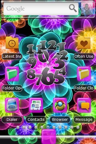 Neon Flower Theme