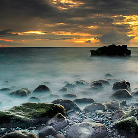 One Stone In The Sunset by Fahrul Ibn Walid Mahigan - Landscapes Sunsets & Sunrises (  )