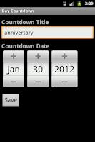 Screenshot of Day Countdown