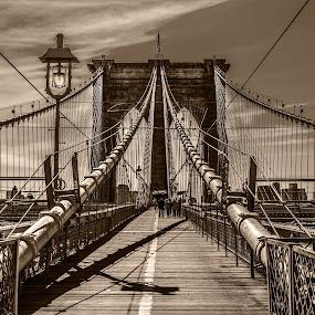 by Nesrine el Khatib - Black & White Street & Candid ( , bridge )