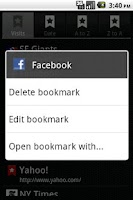 Screenshot of Bookmarks Light