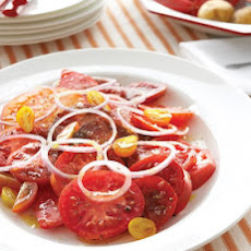 Sliced Tomatoes and Red Onion