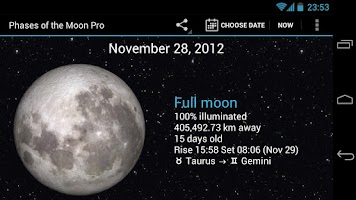 Screenshot of Phases of the Moon Pro