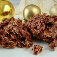 Chocolate Christmas Cookies (No-Bake)