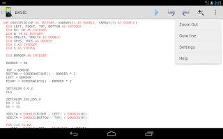 Screenshot of Mobile BASIC (Lite)