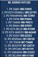 Screenshot of PDRM Sabah Hotline