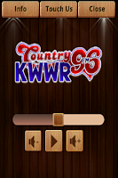 Screenshot of Country 96, KWWR!
