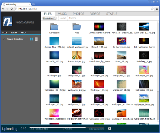 WebSharing (WiFi File Manager) - screenshot
