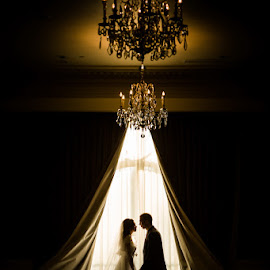 Love Story by David Terry - Wedding Bride & Groom ( love, wedding, silhouette, bride and groom, romance )