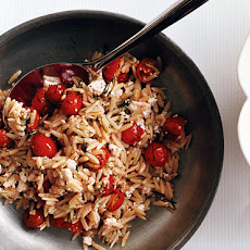 Orzo with Feta, Tomatoes, and Dill