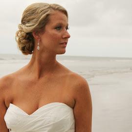 Stephanie by Lauren Young - Wedding Bride ( wedding, bride, newlyweds, beach wedding, south carolina )