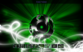 Screenshot of Next 3D Theme Green Twister