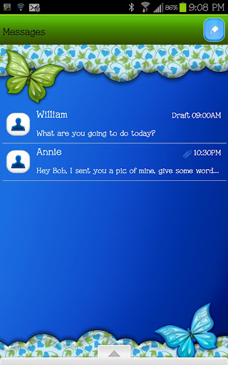 GO SMS - Blended Leaves