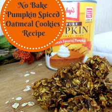 No Bake Pumpkin Spiced Oatmeal Cookies