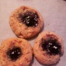 Jam and Oatmeal Thumbprint Cookies