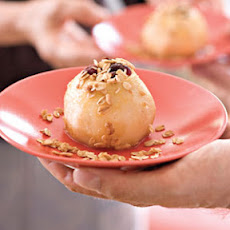 Baked Pears With Oatmeal Streusel Topping