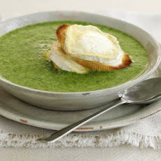 Watercress Soup With Goat's Cheese Croûtes