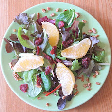 Field Salad with Citrus Vinaigrette and Sugared Pecans