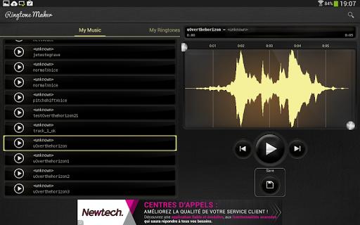 Ringtones maker MP3 - screenshot