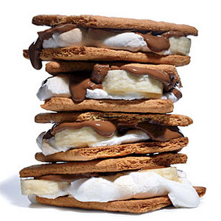 Quick Banana and Milk Chocolate S'mores
