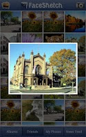 Screenshot of PicArts FaceSketch to Facebook