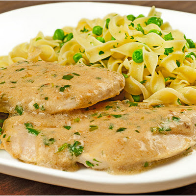 Chicken with Tarragon-Mustard Cream Sauce