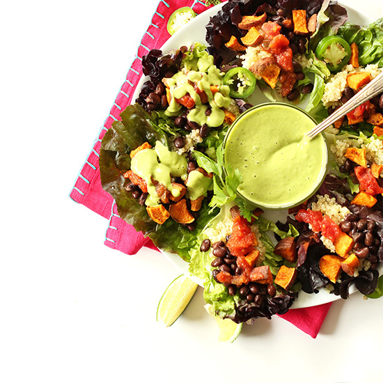Mexican Quinoa Salad Cups with Creamy Cilantro-Lime Dressing Recipe ...
