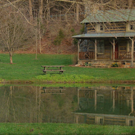 Little Cabin in the Woods by Renee Burmer - Buildings & Architecture Other Exteriors ( water, cabin, monroe county, wv )