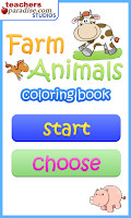 Screenshot of Farm Animals Coloring Book