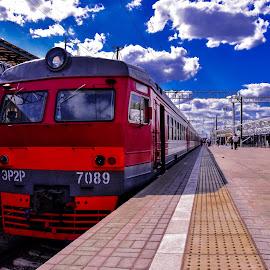 Elektrichka by Jerome Taris - Transportation Railway Tracks ( suburbs, russia, suburban, moscow, train )