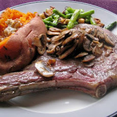 Baked Rib Eye Steaks With Mushrooms