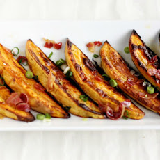 Sweet Potato Wedges with Bacon Vinaigrette